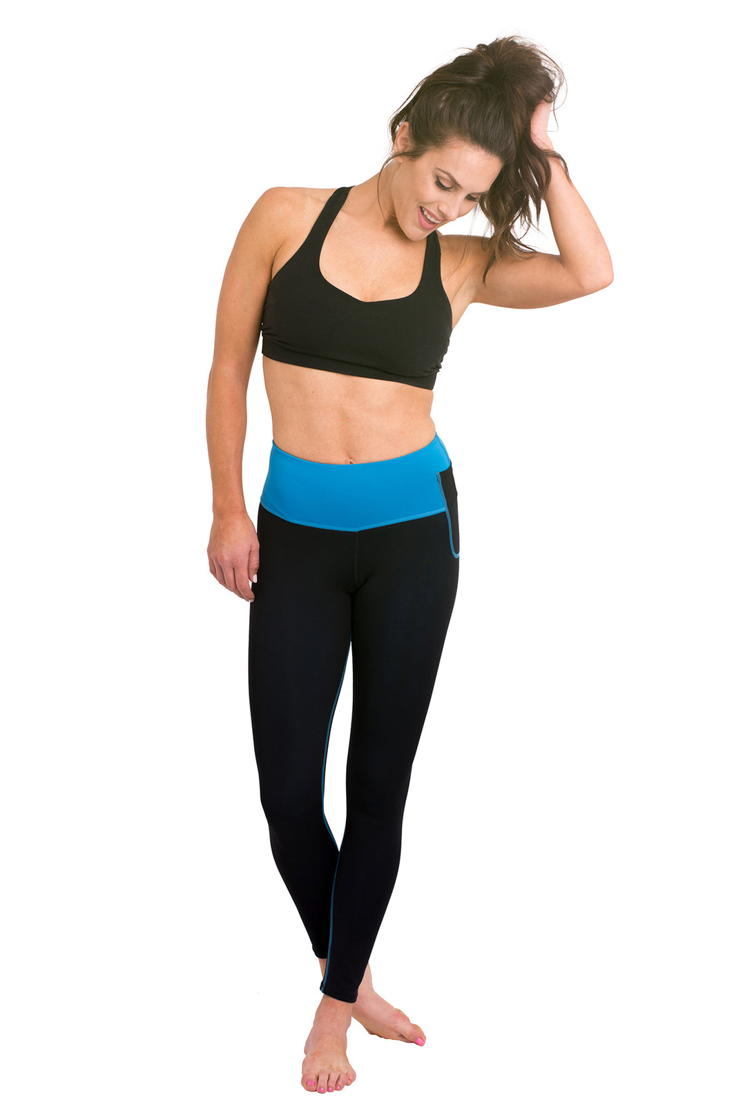Mineral Infused Leggings - Turquoise / Black