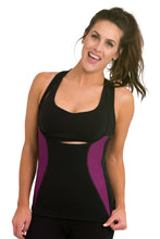 Load image into Gallery viewer, Heat Maximizing Underbust Racer-back Tank - Black/Purple