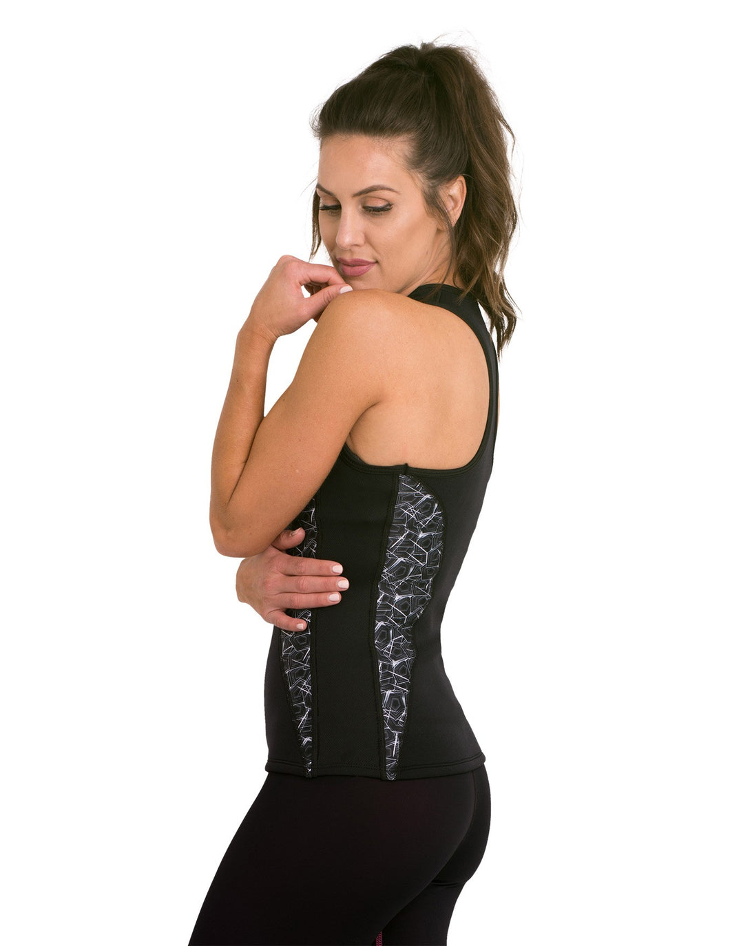 Heat Maximizing Full Coverage Racer-back Tank - Mystic Maze