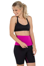 Load image into Gallery viewer, Mineral Infused High Waist Exercise Shorts - Black/Pink