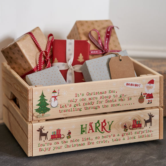 Personalised Christmas Eve Crates