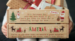 Personalised Christmas Eve Crate, Christmas Eve Box, Christmas Eve Ideas, Children's Christmas Eve Box Personalised, Christmas Eve gifts, Christmas Eve tradition,Personalised Christmas Eve Crate, Christmas Eve Box, Christmas Eve Ideas,