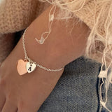Personalised Initial Charm Bracelet 'Present'