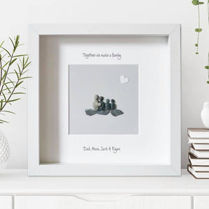 Personalised Natural Grey Pebble Picture