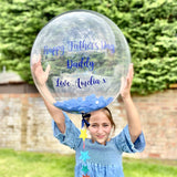 Personalised Father's Day Large Confetti Bubble Balloon