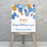 Birthday Balloons Personalised Sign