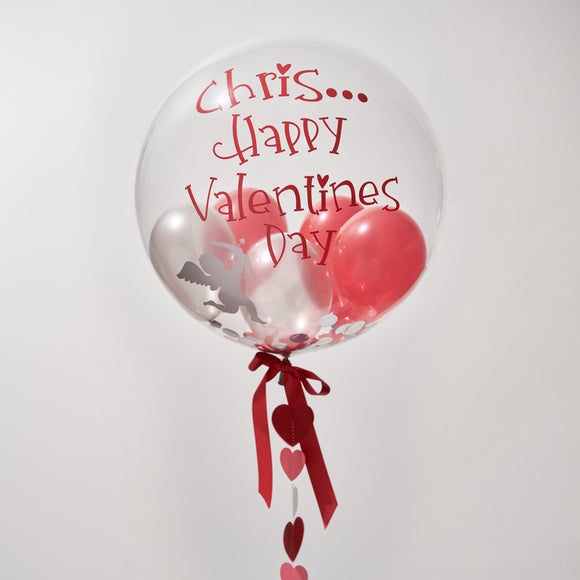 Personalised Valentines Gumball Confetti Bubble Balloon
