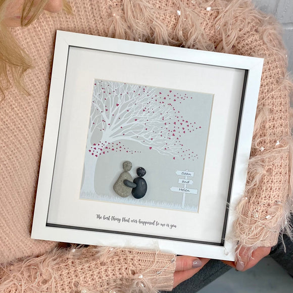 Love Story Tree Pebble Picture
