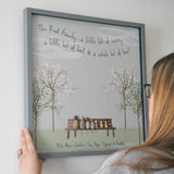 Personalised Family Bench Pebble Picture