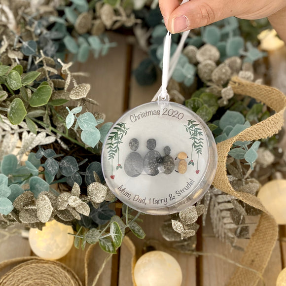 Personalised Family Christmas Pebble Bauble