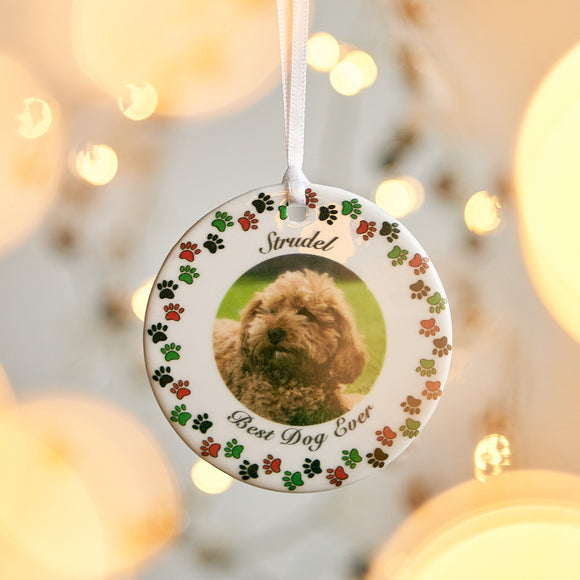 Pet Christmas Photo Bauble