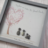 Personalised Love Tree Pebble Picture