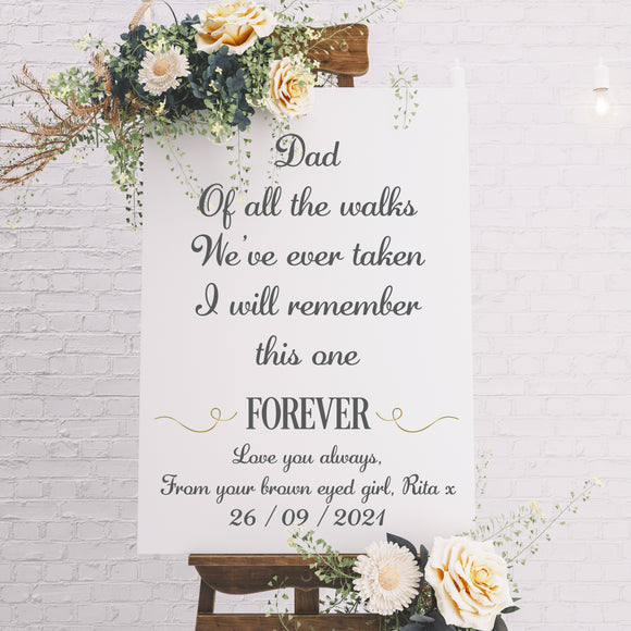 Wedding Aisle Personalised Sign