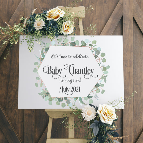Eucalyptus Elegance Personalised Sign
