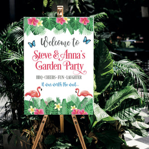 Tropical Party Personalised Sign
