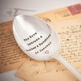 Personalised Silver Plated Vintage Serving Spoon