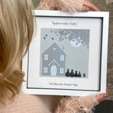 Personalised Family Home Pebble Picture