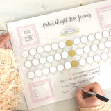Personalised Scratch Away Weight Loss Journey Acrylic Wall Planner