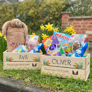 Personalised Easter Egg Crate - Delivered by the Easter Bunny