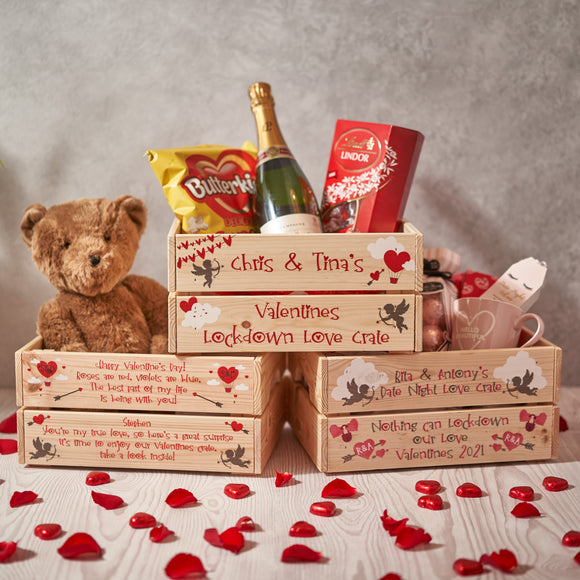 Personalised Valentines Crate Box