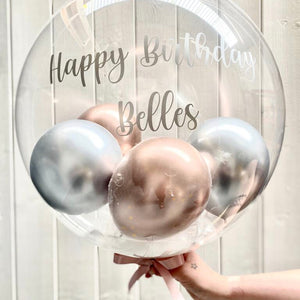 Personalised Large Gumball Feather Bubble Balloon