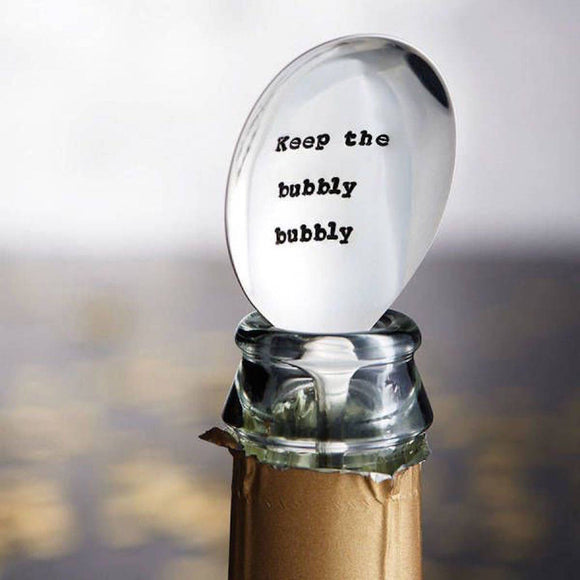 'Bubbly Bubbly' Vintage Champagne Prosecco Spoon