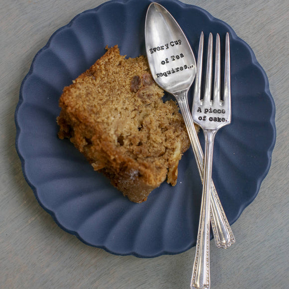Personalised Tea Spoon And Cake Fork Set