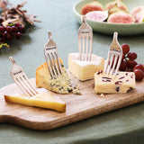 Personalised Vintage Silver Plated Set Of 4 Cheese Markers Set