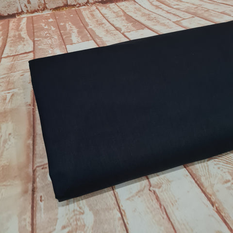 Plain Black Cotton, sold by 10m