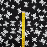 Skulls on Black French Terry Jersey 10m
