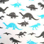 Black and Blue Dinos Cotton 10m