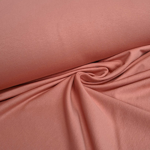 Salmon Pink Plain French Terry 10m