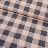 Pink and Grey Checkered French Terry 10m