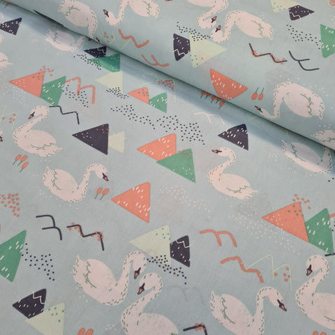 Swans Mint Cotton 10m