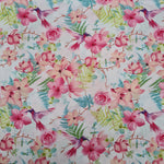 Hummingbirds Pink Cotton 10m