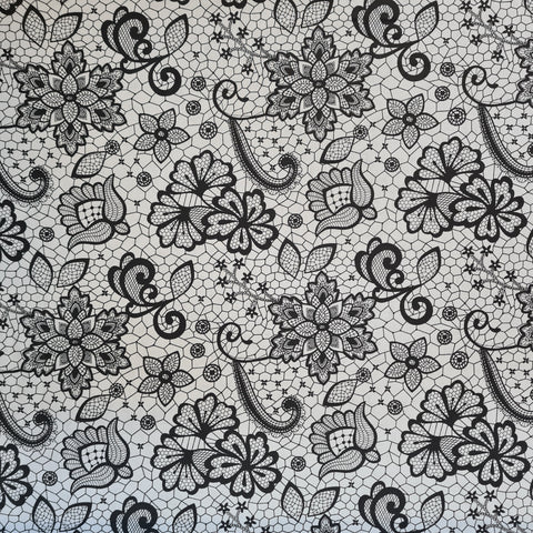 Mono Lace Print Cotton, sold by 10m