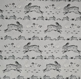 Waterproof Fabric Rabbits Grey 10m