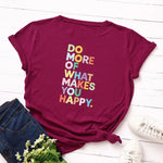JFUNCY Plus Size Summer T-shirts Women 100% Cotton T Shirt  Letter Printed Woman Tshirt Short Sleeve Loose Tops Female Tee Shirt