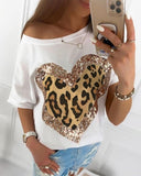 Fashion Women 2020 Spring T-shirts Letters Love Printed Patchwork O-neck Tee Shirt Long Sleeve Casual White Tops Plus Size GV377