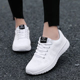 2020 Women Shoes Flats Fashion Casual Ladies Walking Basket Lace-Up Mesh Breathable Female Sneakers Zapatillas Mujer Feminino
