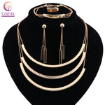 Fashion Nigerian Wedding Gold-color African Beads Jewelry Sets For Women Party Dubai Jewelry Set Wedding Accessories