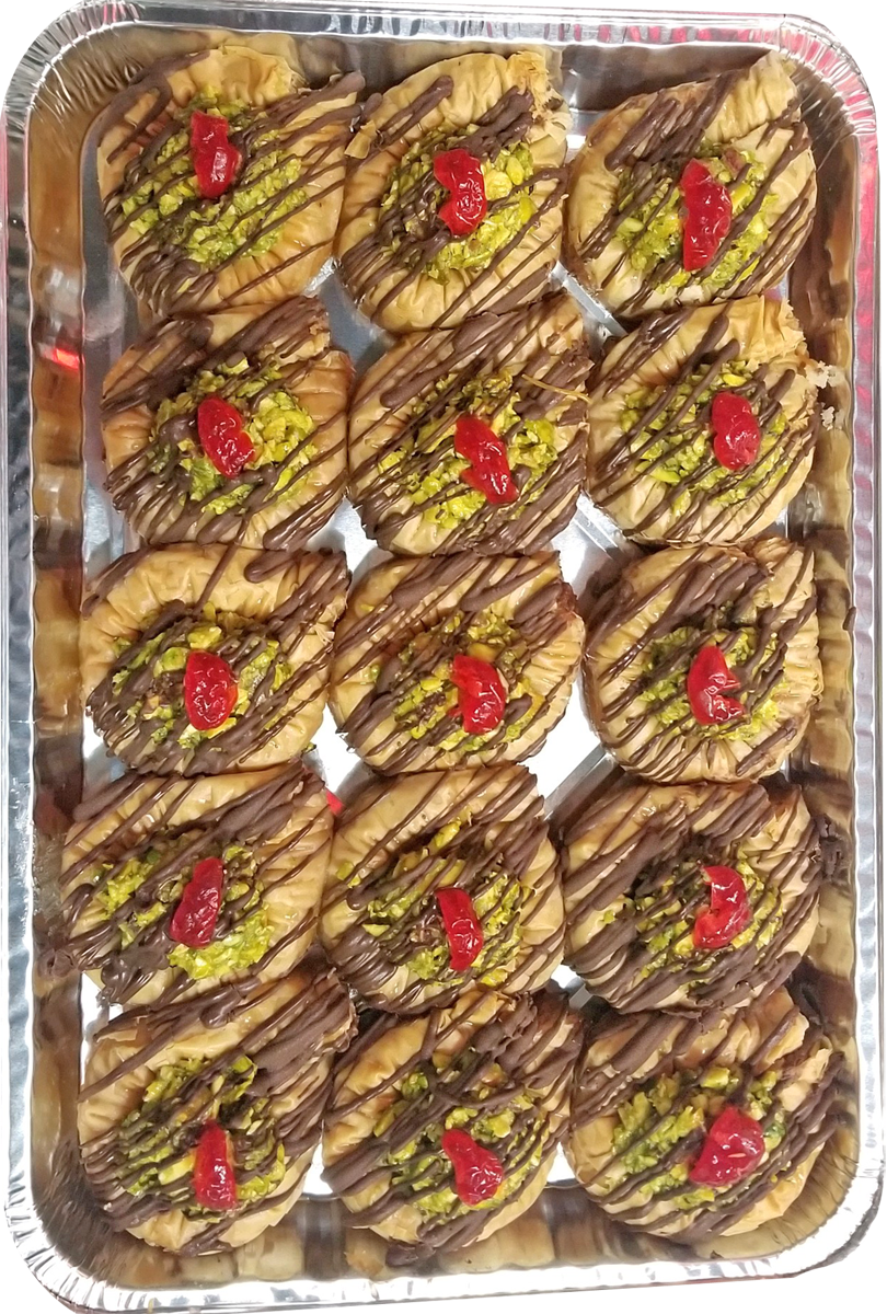 SWAR EL SIT BAKLAVA WITH CHOCOLATE AND PISTACHIO HALF TRAY