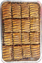 Load image into Gallery viewer, CHOCOLATE PECAN BAKLAVA HALF TRAY
