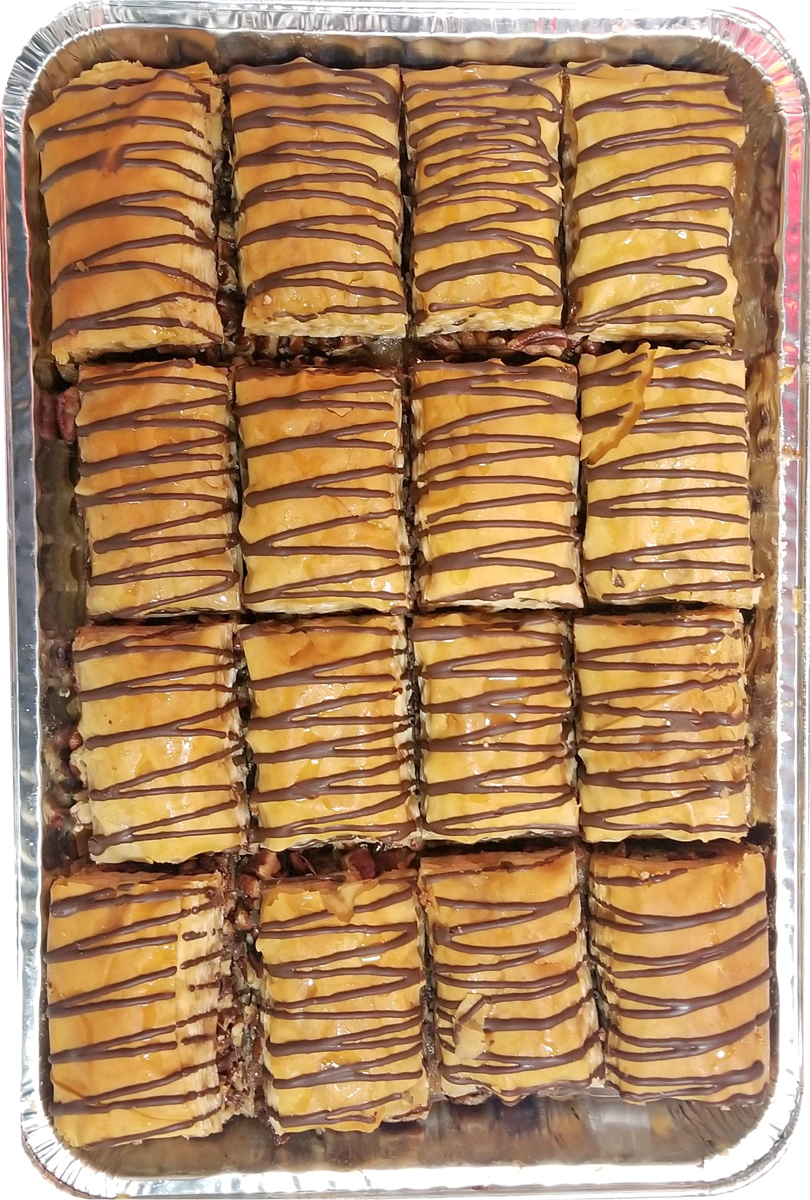 CHOCOLATE PECAN BAKLAVA HALF TRAY