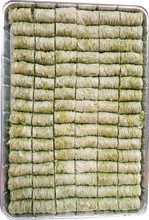 Load image into Gallery viewer, GREEN MINI BURMA BAKLAVA PISTACHIO FULL TRAT
