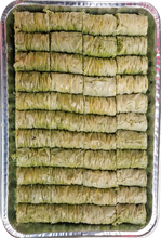 Load image into Gallery viewer, GREEN MINI BURMA BAKLAVA PISTACHIO HALF TRAY