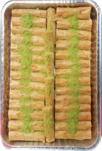 Load image into Gallery viewer, LADY FINGERS CASHEW BAKLAVA HALF TRAY