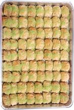 Load image into Gallery viewer, MINI ROSE BAKLAVA CASHEWS FULL TRAY
