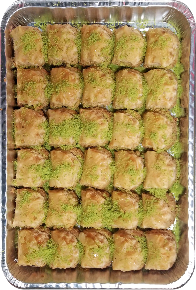 MINI ROSE BAKLAVA CASHEWS HALF TRAY