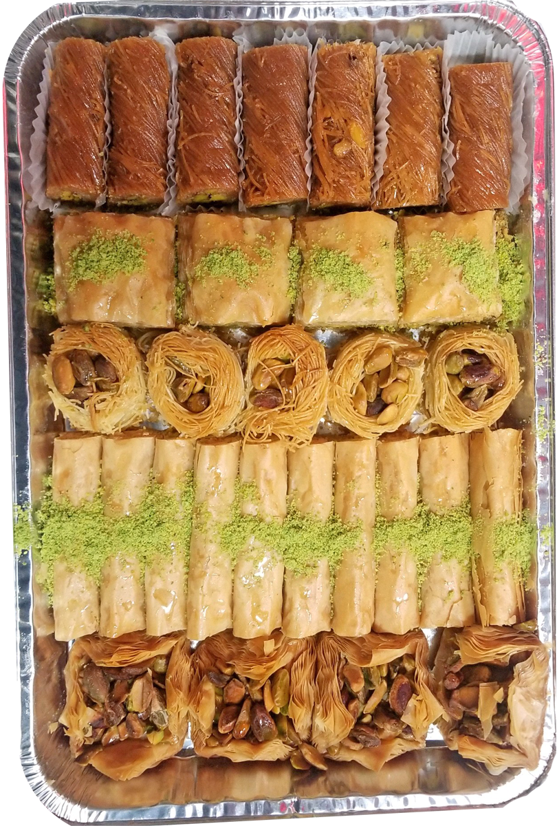 GOLD ASSORTED BAKLAVA TRAY